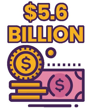 $5.6 billion